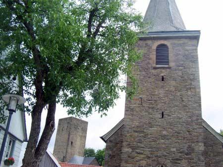 Kirche Burgturm Blankenstein
