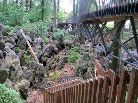 Brücken und Stege oben und unten, Felsenmeer Hemer