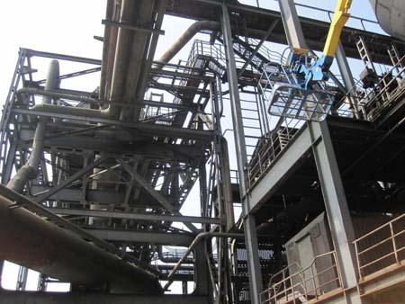 Industriemuseum Duisburg von unten