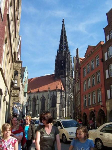 Blick auf die Lambertikirche