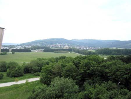 Blick auf Deilinghofen hinter dem Felsenmeer