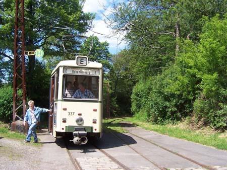 Endstation der historischen Bahnfahrt