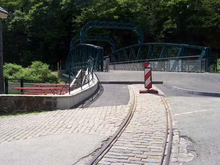 Schienenende Kohlfurther Brücke