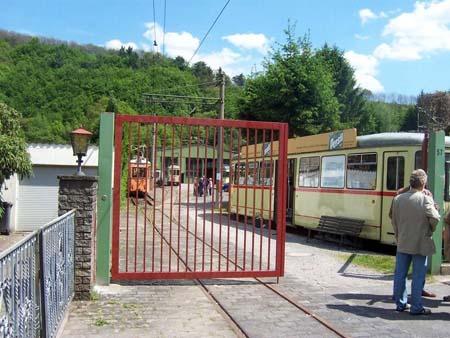 Straßenbahnmuseum Eingang