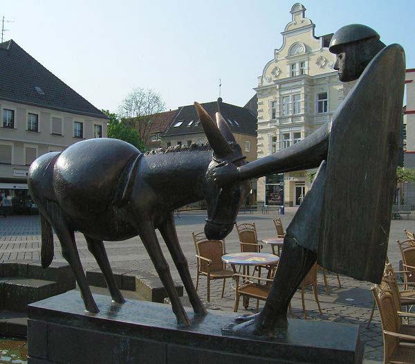 Eselsbrunnen am Marktplatz von Unna