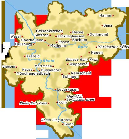 Karte Ruhrgebiet Städte.Metropole Rhein Ruhr Region Städte Im Ruhrgebiet Hotels Urlaub