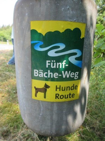 Hunde Wanderweg