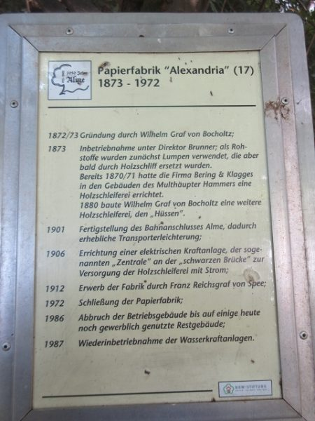 Chronik Papierfabrik Alexandria