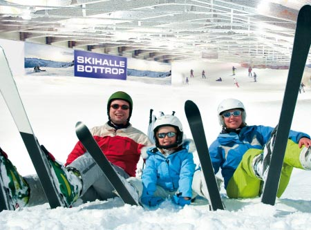 Alpincenter Bottrop Skihalle Familie