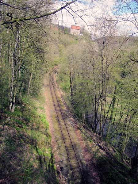 Bahnlinie - Burg Klusenstein