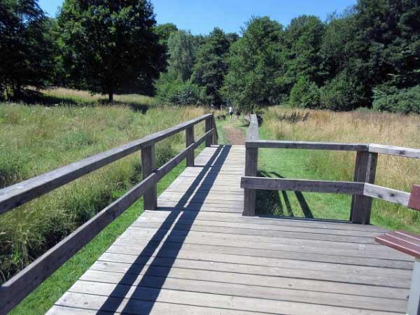 Holzbrücke am Barfußpfad