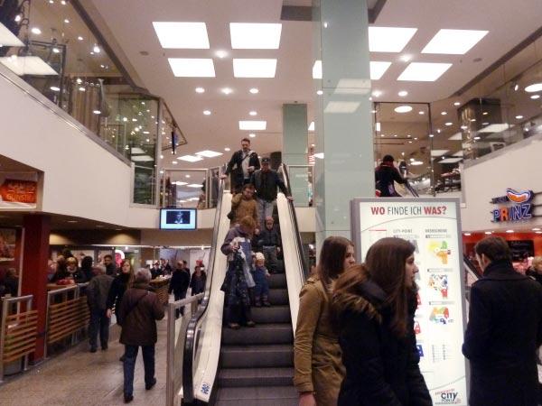 Rolltreppe Shoppingcenter City Point