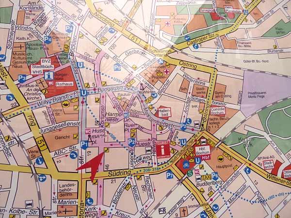 Bochum Zentrum Stadtplan