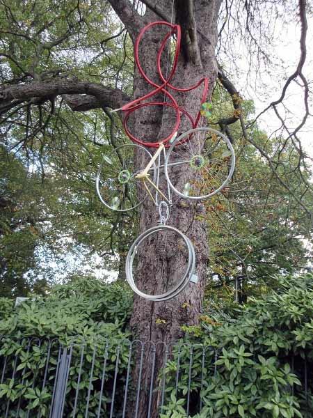 Kunstobjekt Fahrrad