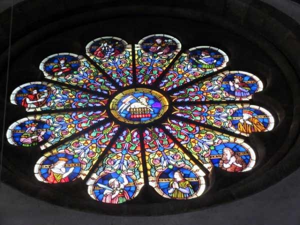 Nikolauskirche Fenstermosaik