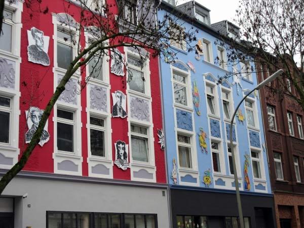 Künstlerische Häuser - Schleswiger Straße