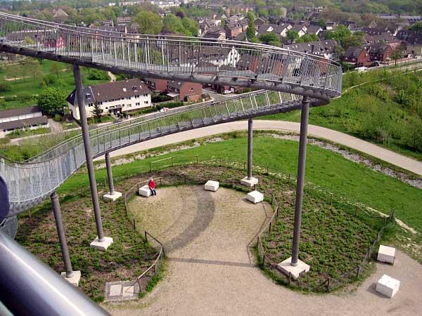 Blick auf Duisburg-Angerhausen von oben