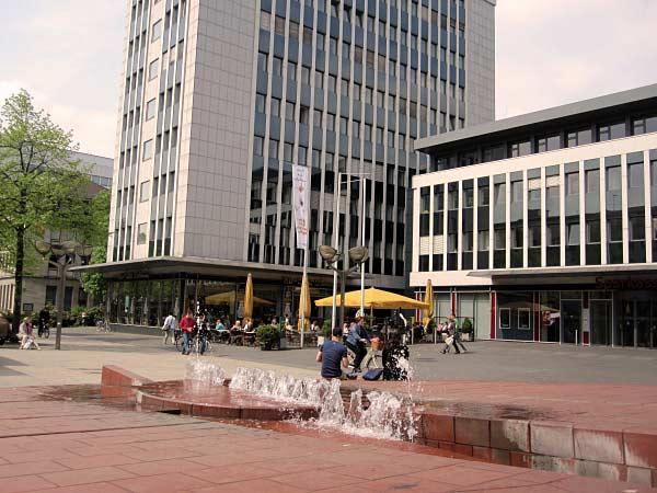 Brunnen auf der Brunnenmeile Duisburg