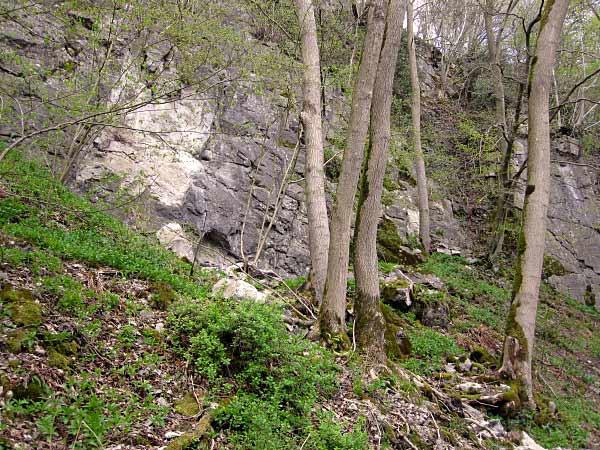 Hönnetal Felswand und Höhle