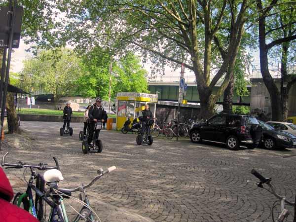 Segway-Verleih an der Rheinuferpromenade