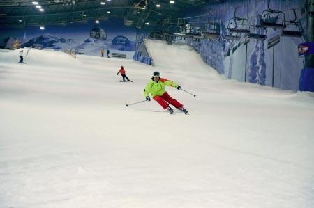 skifahren piste Skihalle Neuss