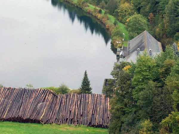 Holz Nasslager Sorpesee