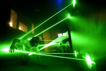 Spionagemuseum Oberhausen - Lasertunnel