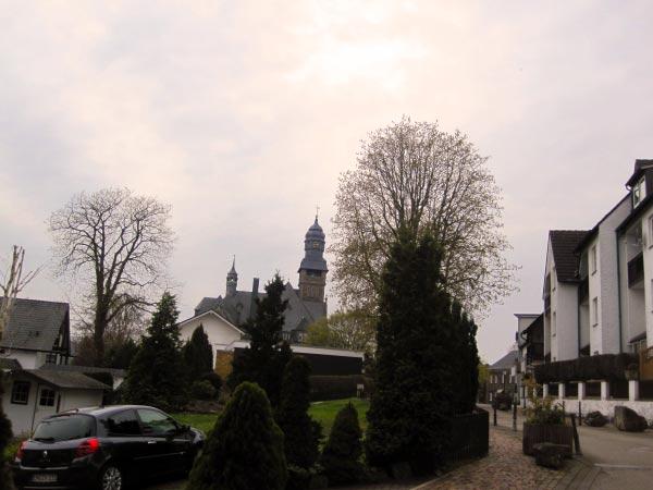 Blick aus der Freiheit auf das Wetteraner Rathaus.