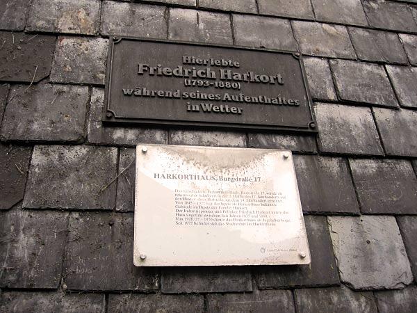 Hier lebte Friedrich Harkort, der berühmte Eisenmbahn-Pionier.